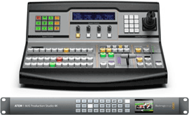 Blackmagic Atem 1 with ATEM 1 M/E Broadcast Panel